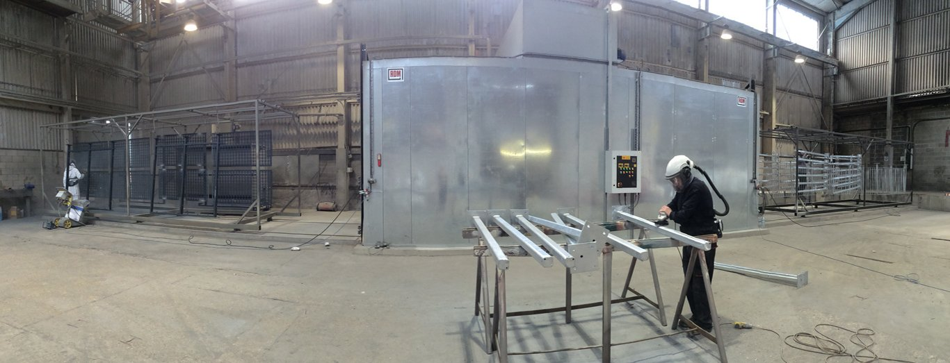 8 Meter Powder Coating Oven London